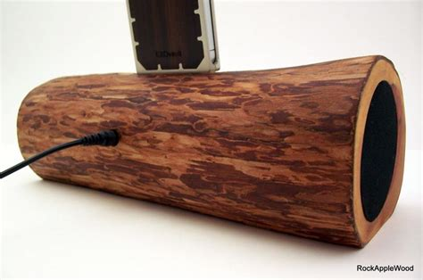 Handmade Audio - handmade wooden iphone dock speaker gadgetsin