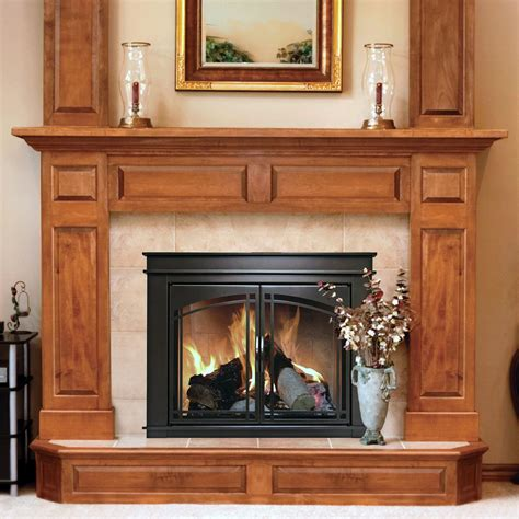pleasant hearth fenwick cabinet fireplace screen and arch