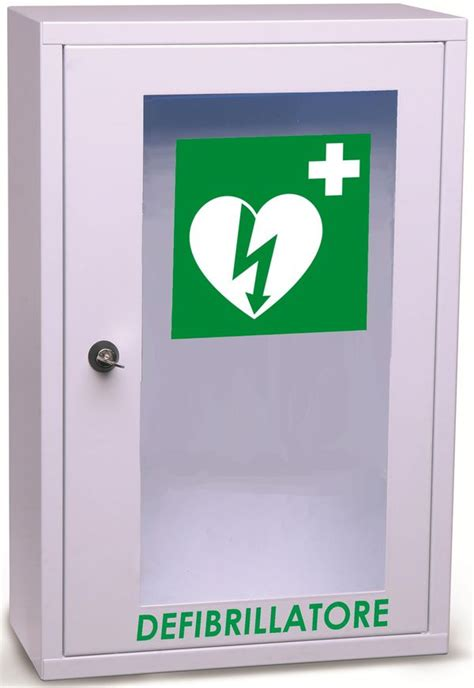 defibrillatore automatico interno armadietto teca defibrillatore a muro wall aed dae
