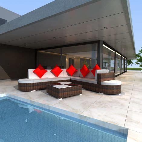 set divani da giardino set divani da giardino 27 pz in polirattan marrone