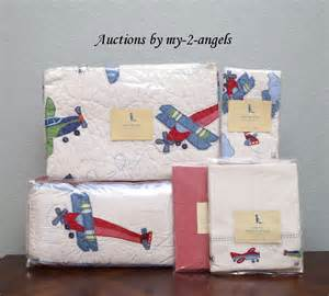 pottery barn plane new pottery barn vintage airplane planes crib quilt