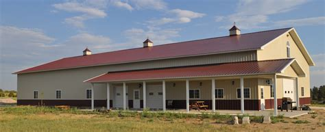 Hangar Home Floor Plans by Denver Colorado Horse Barns Steel Buildings Metal