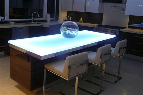 Led Countertop by Cool White Led Light For The Glass Countertop Is Ideal For