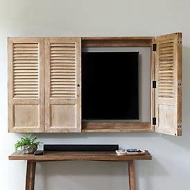 ballard shutter tv wall cabinet vineyard shutter ballard designs