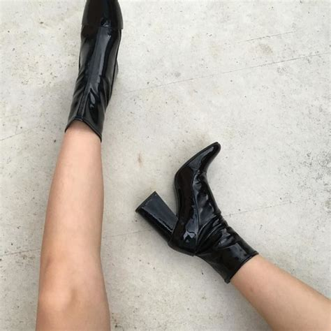shoes boots high heels boots black boots patent shoes
