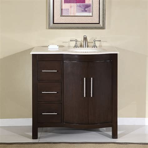 36 Inch Bathroom Vanity Cabinets 36 Inch Modern Single Sink Bathroom Vanity With Marfil Marble Uvsr0912r36
