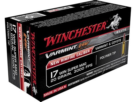 17 winchester super mag able ammo winchester varmint high velocity ammo 17 winchester super