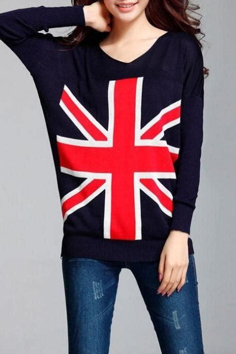 White Flag Knitted Sweater Size Sm 15527 sleeved knit bat sleeve sweater 092820ad on luulla