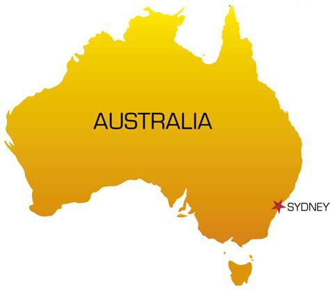 map of australia with sydney sydney on australia map my