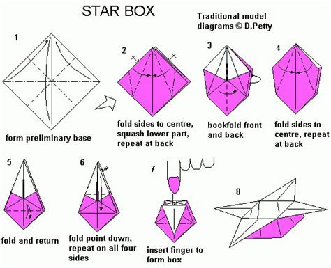 Origami Box Diagram - 29 best origami images on