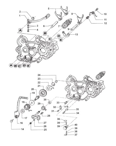 2t motocross gear gear box fork kick starter motor 2t 85 mx 85