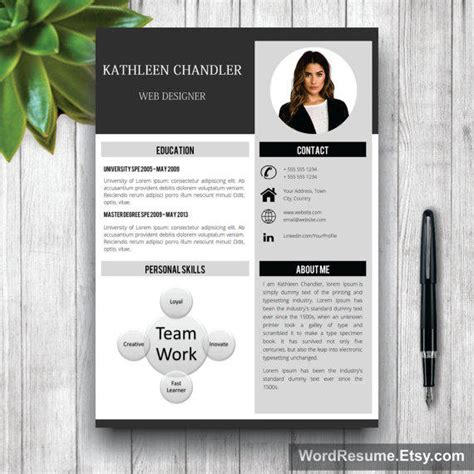 creative curriculum vitae maker clean resume template with photo cover from wordresume