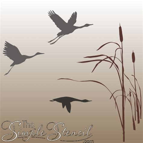 Swallow Wall Stickers wild geese decals flying bird amp nature wall stencils