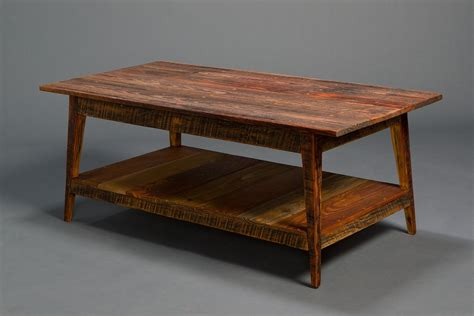 signature coffee table with shelf landrum tables
