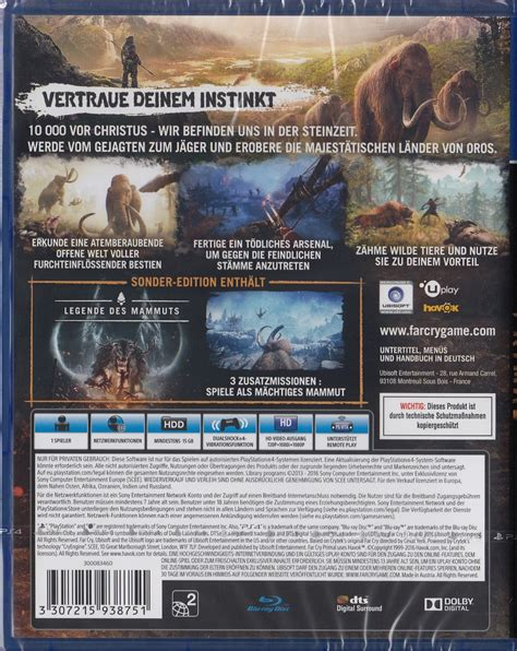 Sale Ps4 Far Cry Primal Reg3 far cry primal special edition playstation 4 ps4 neu ovp deutsche version 3307215938751 ebay
