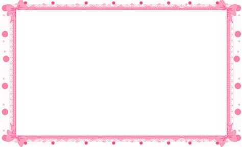 Wedding Stationery Border by Pink Floral Borders Printable Stationary Border
