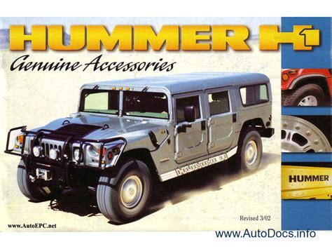 parts for h2 hummer hummer h1 hummer h2 original accessories catalogue