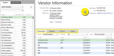 quickbooks tutorial notes free quickbooks tutorials what is the vendor center