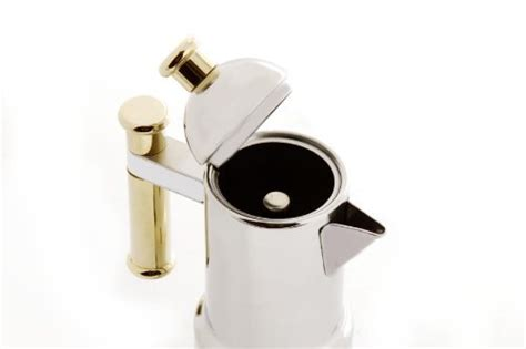 Moka Pot 4 Cups Vev Vigano Stainless Quality vev vigano 8010 kontessa oro 12 cup coffee pot toolfanatic