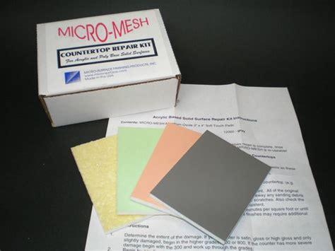 Corian Refinishing Kit micro mesh solid surface countertop repair kit ebay