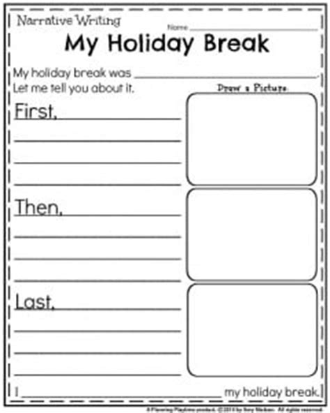 What I Did On My Winter Vacationday One Decembe Snarkspot by January Kindergarten Worksheets