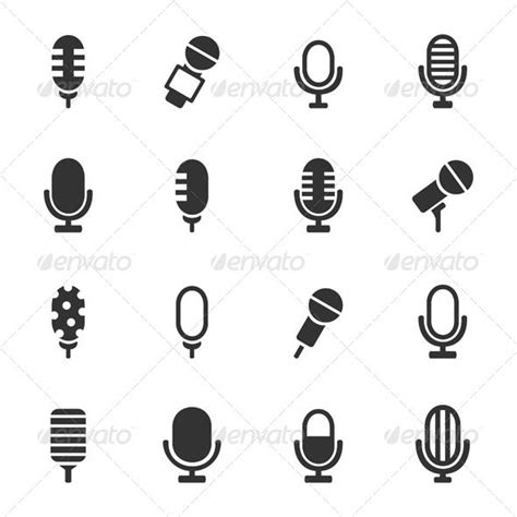 small microphone tattoo designs microphone icons graphicriver graphic design