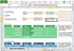 monthly accounts excel template monthly bank reconciliation template for excel