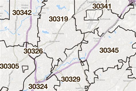 city of atlanta zip code map atlanta zip code boundaries