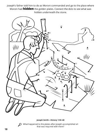 lds coloring pages golden plates obtaining the gold plates