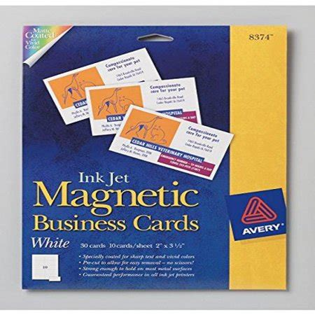 avery ink jet magnetic business cards template avery ink jet magnetic business cards 10 precut cards