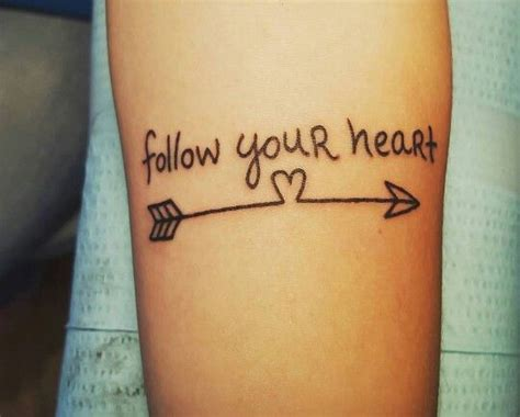 follow your heart tattoo 1000 ideas about on arabic
