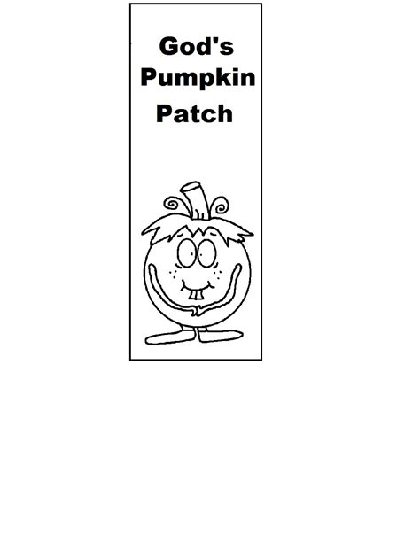 printable pumpkin bookmarks fall prayer sunday school lesson