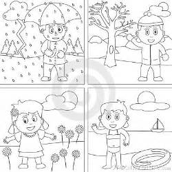 seasons coloring pages four seasons coloring pages for