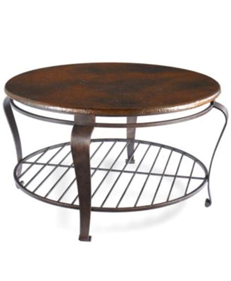 Clark Copper Oval Coffee Table Furniture Macy S