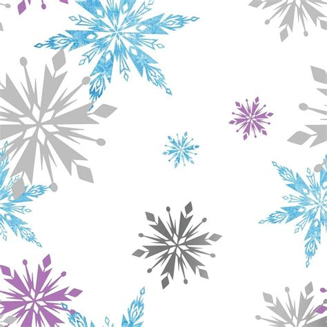 Snowflake Motif Pattern | disney frozen snowflake pattern metallic childrens