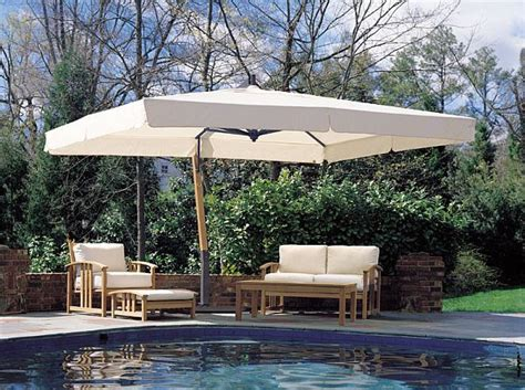 giant xft rectangle sidepost umbrella large patio