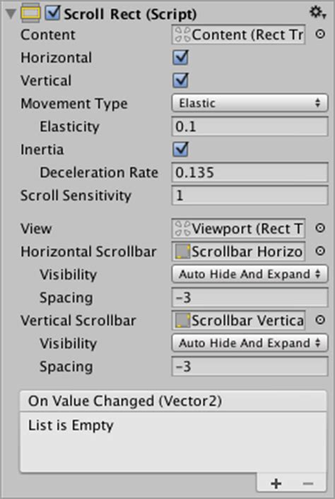 unity vertical layout group order unity manual scroll rect