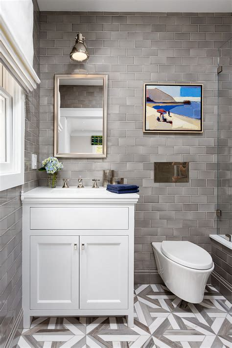 bathroom reno ideas bathroom reno with grey subway tile home bunch interior
