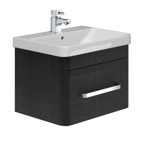 800 Vanity Unit by Esk Wall Mounted 800 Vanity Unit Basin Black Easy