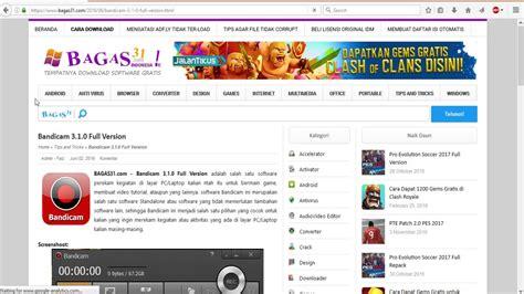 bagas31 youtube downloader cara download bandicam di bagas31 dan ini spesial untuk
