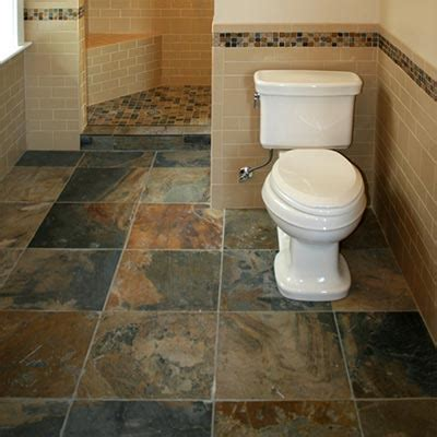 slate tile bathroom floor natural stone tile floor liberty home solutions llc