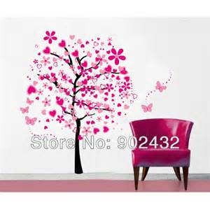 Set love tree and butterfly home decoration giant wall decals jm7165
