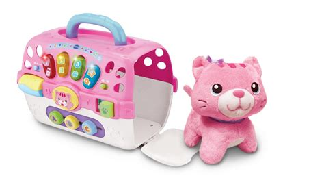 pink toy vtech pink baby cosy kitten carrier toys amazon co uk