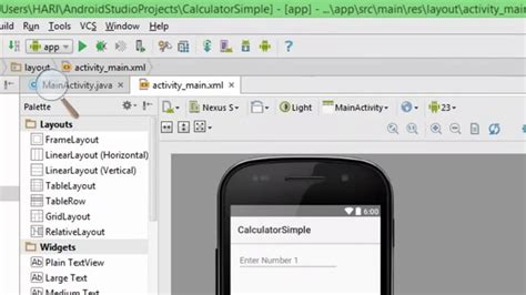 android studio textview tutorial android studio basic tutorial adding two numbers using