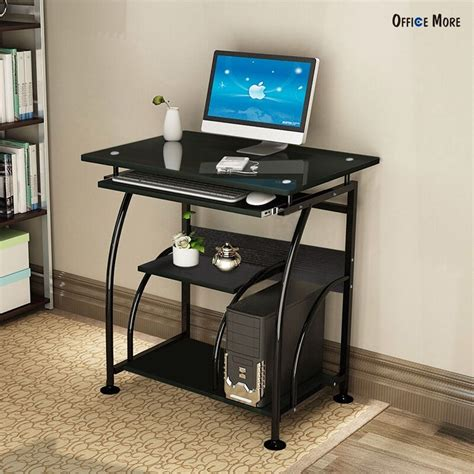 Computer Table Desk Home Office Pc Corner Computer Desk Laptop Table Workstation Furniture Black Ebay