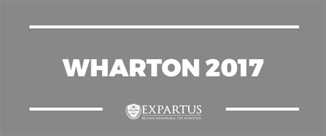 2017 Stanley Mba Early Insights Program by Wharton 2017 Mba Profile