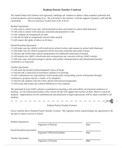 student agreement contract behaviour contract for kids