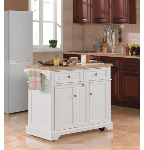 crosley butcher block top kitchen island in white finish majestic crosley kitchen island with butcher block top and
