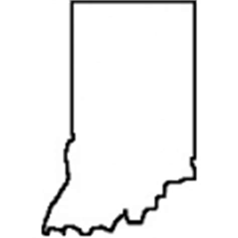 Indiana State Outline Clipart by Craft