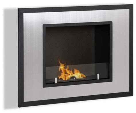 bellezza wall mounted recessed ventless ethanol fireplace